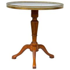 French Gueridon Table with Carrara Marble Top