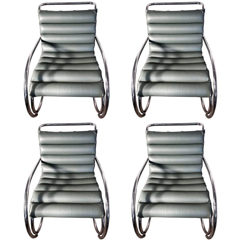 Set Of Four 1960s KnollStudio MR Lounge Chairs By Ludwig Mies Van Der Rohe Fo