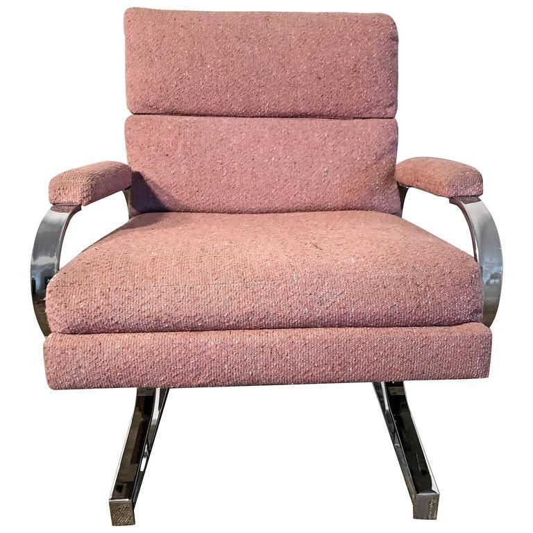 20th Century Milo Baughman Style Lounge Chair