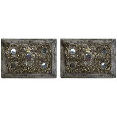 Pair of 19th Century Italian Parcel-Gilt Reliquaries
