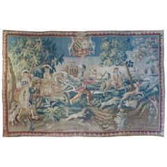 French, 18th Century, Tapestry with Blason