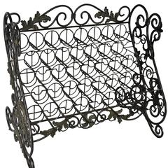 38 Bottle Iron Wine Rack in Verdigris Patina by Maitland-Smith
