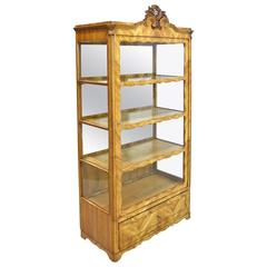 19th Century Late Biedermeier or Louis Philippe Display Cabinet in Cherrywood