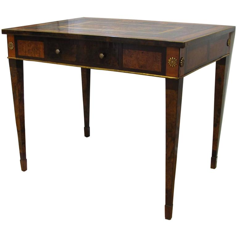 Italian Late 18th Century Louis XVI Desk in Palisander, Walnut and Olive Wood For Sale