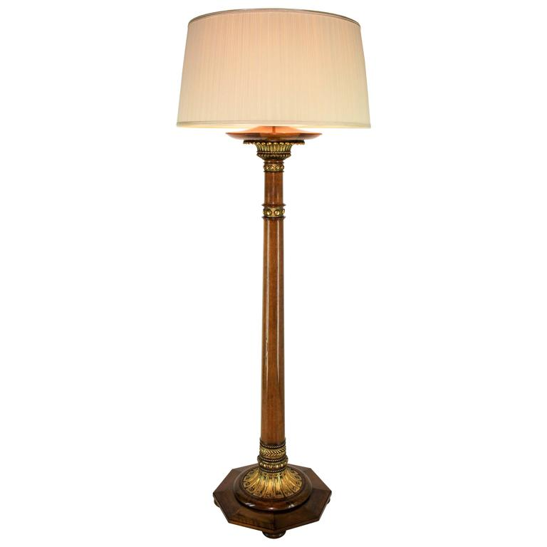 unique floor lamp from alban chambon 1915 for sale at 1stdibs. Black Bedroom Furniture Sets. Home Design Ideas