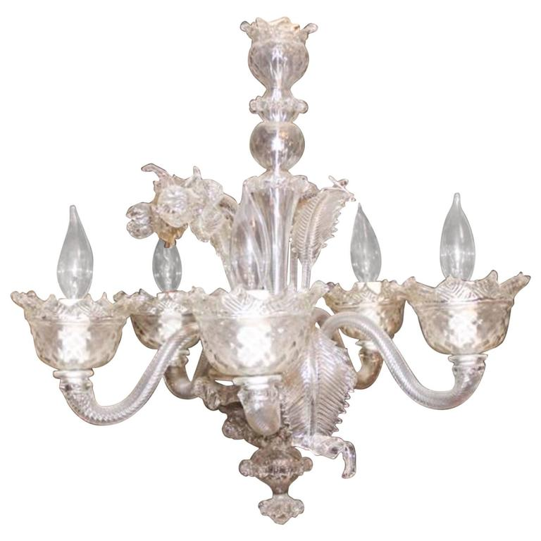 Venetian Glass Chandelier of Nice Small Scale 1