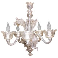 Venetian Glass Chandelier of Nice Small Scale