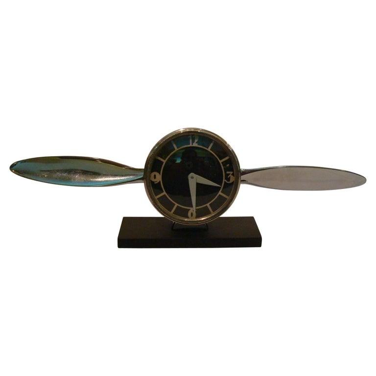 Streamline Airplane Propeller Desk Clock For Sale