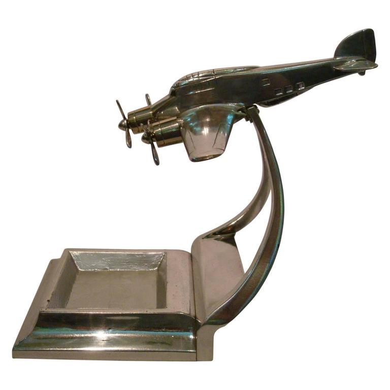 Art Deco Aluminum WW2 Bomber