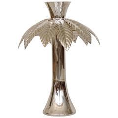 Swanky Italian 1970s Palm Tree Table Lamp