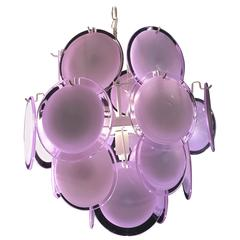 Vistosi Disc Murano Chandelier, 1970s