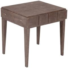 French Shagreen Covered Small Side Table