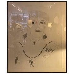 Lee Godie Outsider Art Ink Portrait