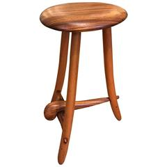 American Studio Craft Walnut Stool by Spiro Studio