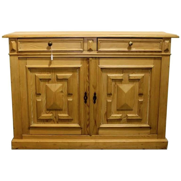 19th Century English Server, Dry Bar Or Console Cabinet For Sale