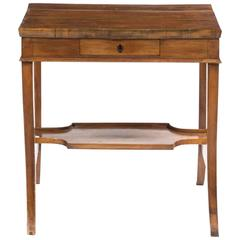 Charming Continental Fruitwood Occasional Table