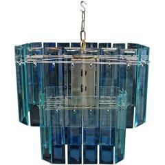 Elegant 1970 Glass Light