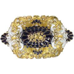 Meissen Cobalt and Gold Cabinet Bowl