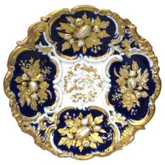 Meissen Cobalt and Gold Cabinet Plate