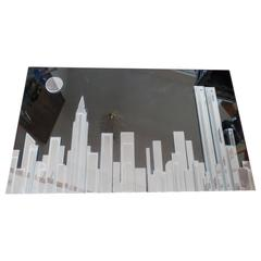 NYC Skyline Mirror Harvard Reflections Twin Towers Empire State Building