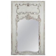 French Painted and Parcel-Gilt Mirror, circa 1900