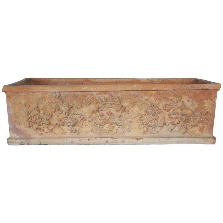 Italian Terra Cotta Planter Circa 1930s For Sale At 1stdibs