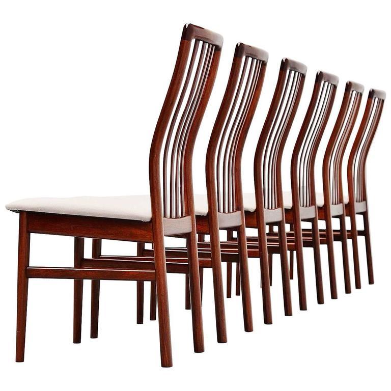 Niels Koefoed Dining Chairs in Rosewood, Denmark, 1960