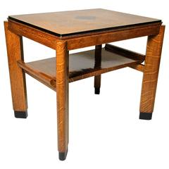 Art Deco Oakwood Table, Austria circa 1925