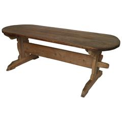 Pine Dining Table, North Sweden, Early 19th Century