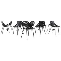 "Pierre Guariche for Meurop Ten ""Beaulieu"" Chairs"