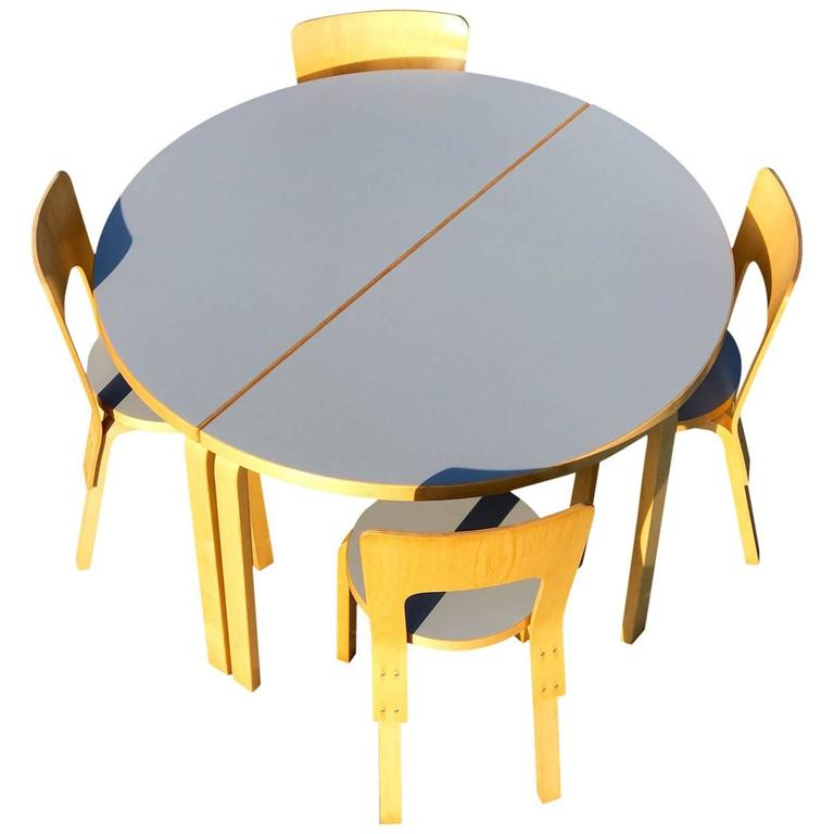 Alvar Aalto Dining Set by Artek Finland