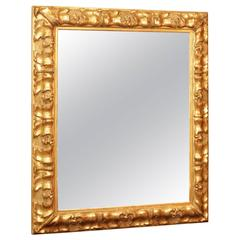Mirror in Gilt Wood and Gesso from the 19th Century Period of Napoleon III