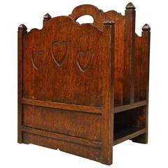 Oak Arts & Crafts Period Magazine Rack Possibly by Liberty's