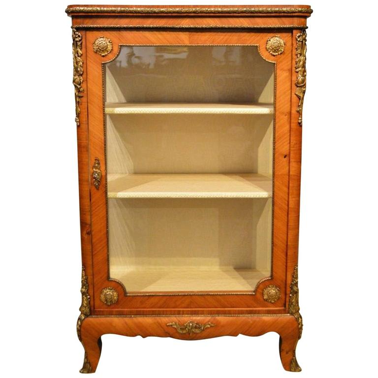 French 19th Century Period Kingwood and Ormolu Mounted Pier Cabinet For Sale