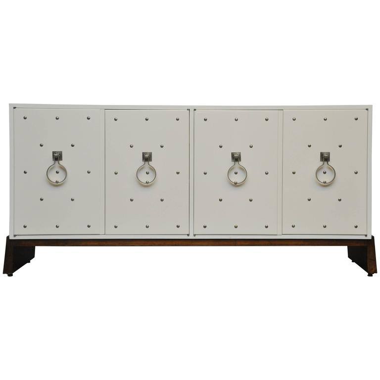 Tommi Parzinger Nickel Studded Sideboard