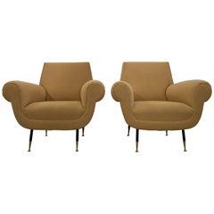 Gigi Radice mid century modern lounge chairs