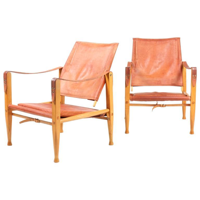 Pair of Safari Chairs by Klint