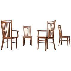 Mid-Century Modern Brazilian Hardwood Dining Chairs, Circa 1960s