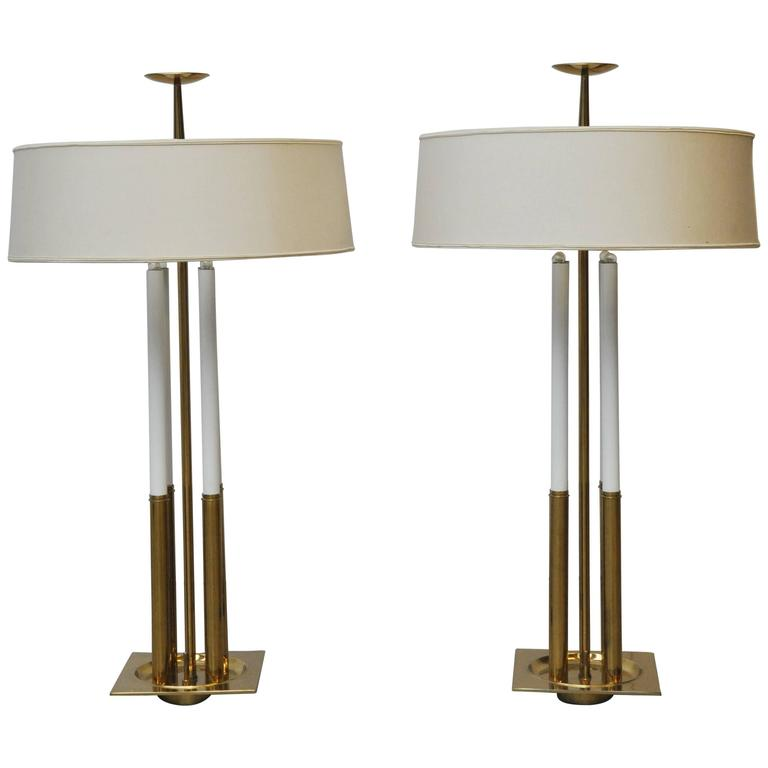 Tommi Parzinger for Stiffel Brass Table Lamps