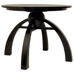 1930 Black Round Italian Art Deco Side Table