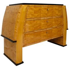 1930 Birch feather wood Italian Art Deco Chests of Drawers