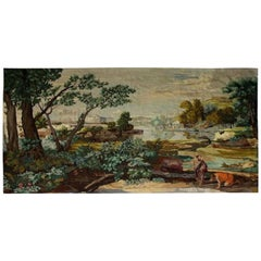 Early 19th Century Antique European Handmade Palace Size Tapestry