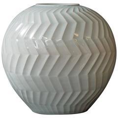 Large Celadon Ceramic Vase