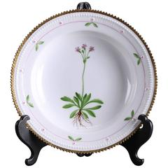 Royal Copenhagen, Deep Plate, Flora Danica 735/3546, Early 20th Century