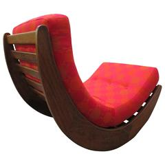 Exciting Rocking Chair Relaxer Denmark 1974 by Verner Panton, Mid-Century Modern