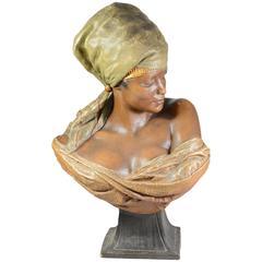 Friedrich Goldscheider 1845–1897, Female Bust in Terracotta