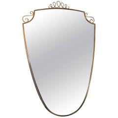 Italian Mid-Century Brass Mirror