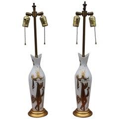 Bjorn Wiinblad for Rosenthal Ceramic Table Lamps