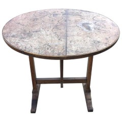 19th Century French Oak Wine Tasting Table