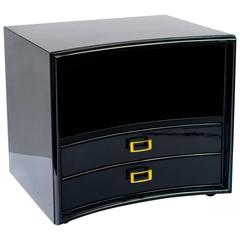 Mid-Century Modern Bowed Front Nightstand by Paul Frankl